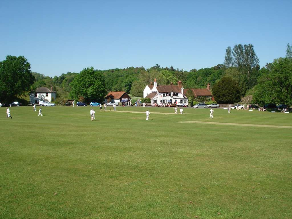Cricket on Tilford green