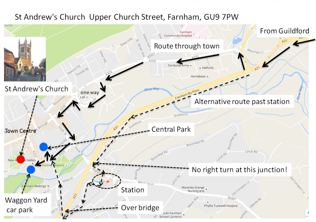 St_Andrews_Church_map_with_directions_from_Guildford